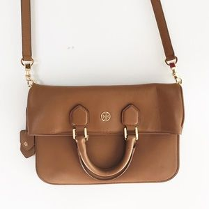 Tory Burch | Large Flap Satchel Messenger Bag